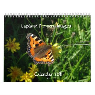 Calendario florido 2011 de las imágenes de Laponia