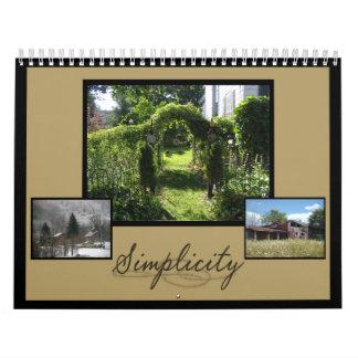 Calendario fotográfico de la simplicidad