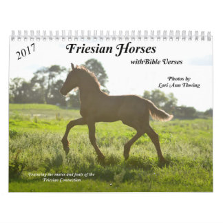 Calendario frisio del caballo con versos de la