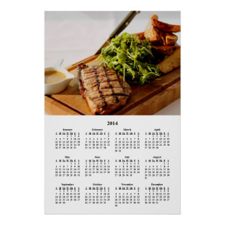 Calendario gastrónomo de cena fino de la comida 20 posters