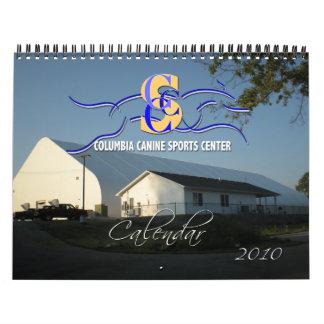 Calendario genérico de 2010 perros de los deportes