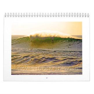 Calendario gigante de la resaca de Hawaii