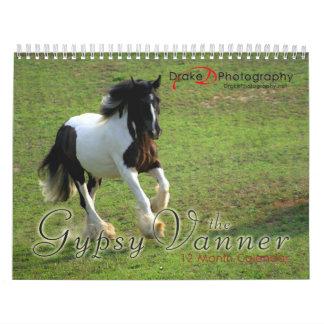 Calendario gitano de los caballos de Vanner