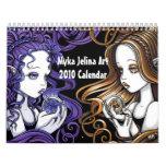 Calendario gótico 2010 del arte de la fantasía del