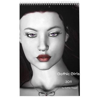 Calendario gótico 2011 de los chicas 2