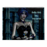 Calendario gótico 2012 de la fantasía 3D de los