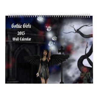 Calendario gótico del arte de la fantasía de 2015