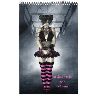 Calendario gótico del libro del arte de 2011 chica