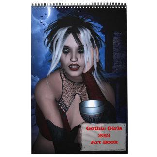 Calendario gótico del libro del arte de 2013 chica
