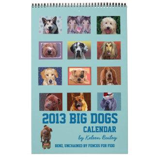 Calendario grande de 2013 perros