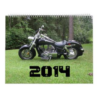 Calendario grande de la motocicleta del matón