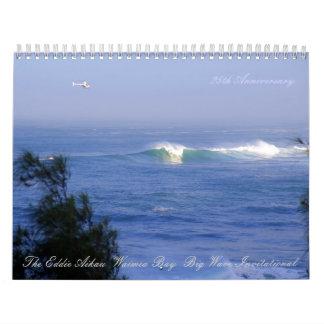 Calendario grande de las ondas de Hawaii