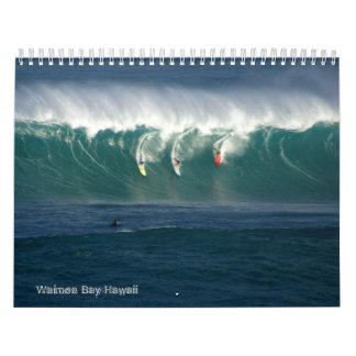 Calendario grande de las ondas de la bahía de