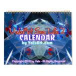 Calendario grande del arte de la vida marina por V