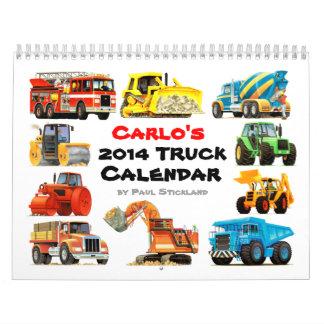 Calendario grande del camión 2014