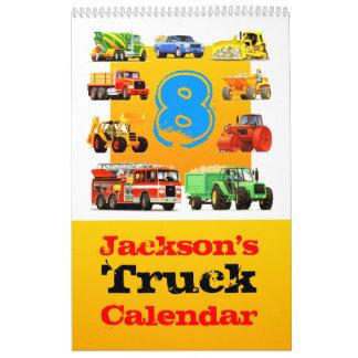 ¡Calendario grande del camión del 8vo cumpleaños Calendario