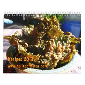 Calendario Grano-Libre delicioso 2013 de la receta
