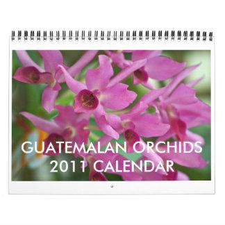 Calendario guatemalteco de las orquídeas