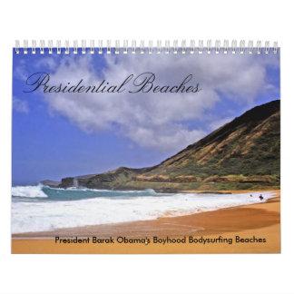 Calendario hawaiano de las playas
