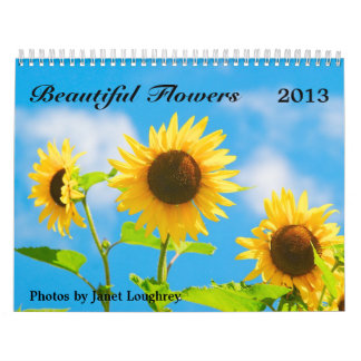 Calendario hermoso 2013 de las flores