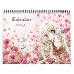 Calendario hermoso 2013 de los chicas del chibi