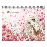 Calendario hermoso 2013 de los chicas del chibi de