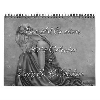 Calendario hermoso 2014 del arte de Zindy de las