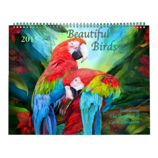 Calendario hermoso 2015 del arte de los pájaros