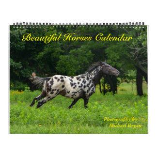 Calendario hermoso de 12 caballos del mes, grande