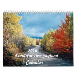 Calendario hermoso de 2016 Nueva Inglaterra