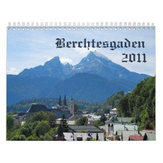 Calendario hermoso de Berchtesgaden