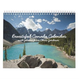 Calendario hermoso de Canadá