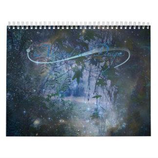 Calendario hermoso de la fantasía