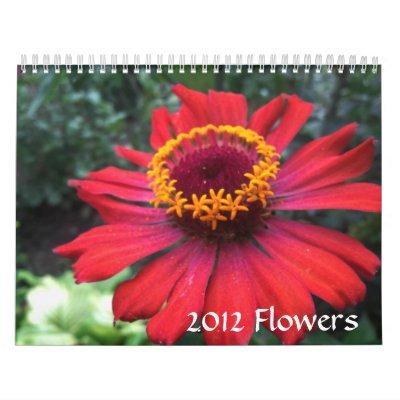 Calendario hermoso de la foto de 2012 flores