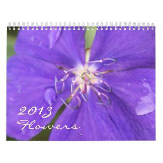 calendario hermoso de la fotografía de 2013 flores