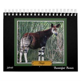 Calendario hermoso de las bestias 2010