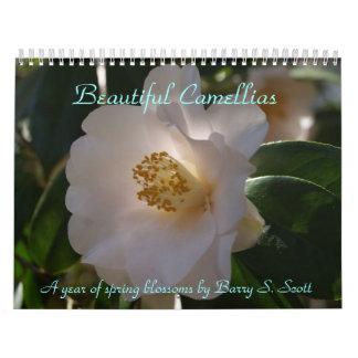 Calendario hermoso de las camelias
