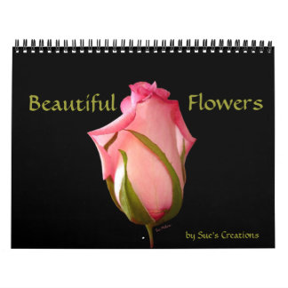 Calendario hermoso de las flores