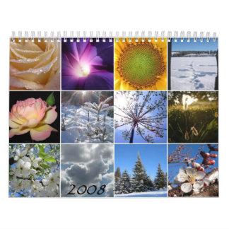 Calendario hermoso de las fotografías
