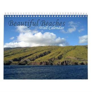 Calendario hermoso de las playas