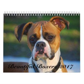 Calendario hermoso de los boxeadores 2017