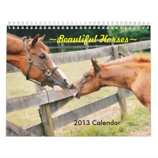 Calendario hermoso de los caballos 2016