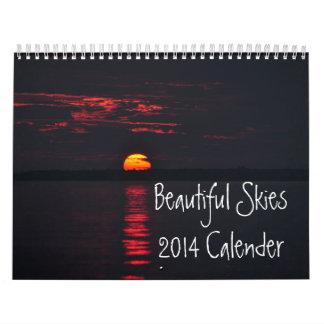 Calendario hermoso de los cielos 2014