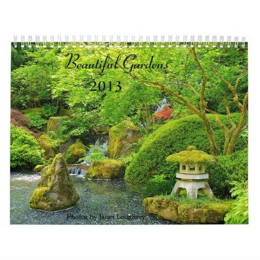 Calendario hermoso de los jardines 2013