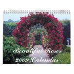 Calendario hermoso de los rosas 2009