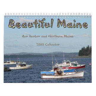 Calendario hermoso de Maine 2010