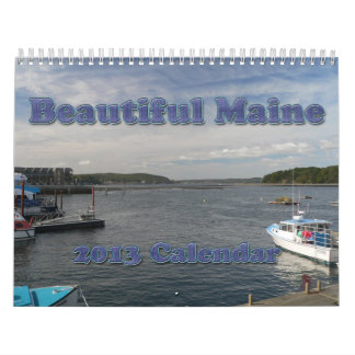 Calendario hermoso de Maine 2013