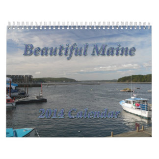 Calendario hermoso de Maine 2014