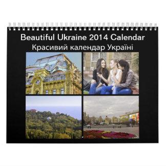 Calendario hermoso de Ucrania 2014