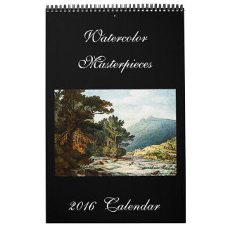 Calendario hermoso del arte de las pinturas 2016